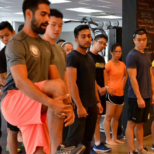 Experiencing strength & conditioning session with Simran